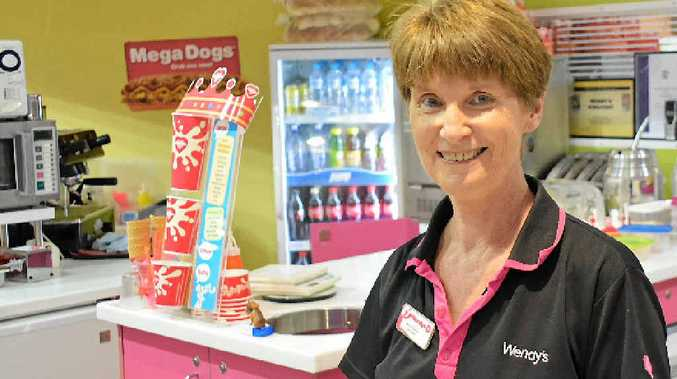 OPEN AND WAITING: Wendy's owner Marian Petersen said the later hours should encourage shoppers to come after noon.