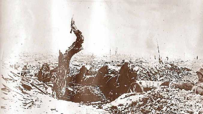 Soldiers in action during Bullecourt Battle, April 1917