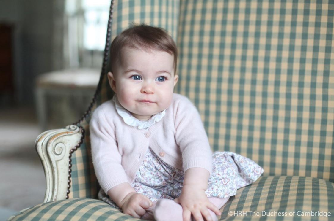 Princess Charlotte, at six months old, in a photo taken by her mother the Duchess of Cambridge