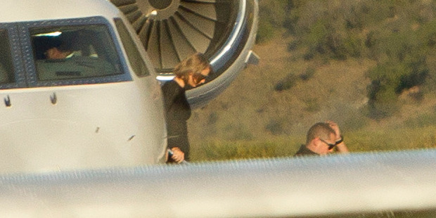 Taylor Swift landing at Queenstown Airport
