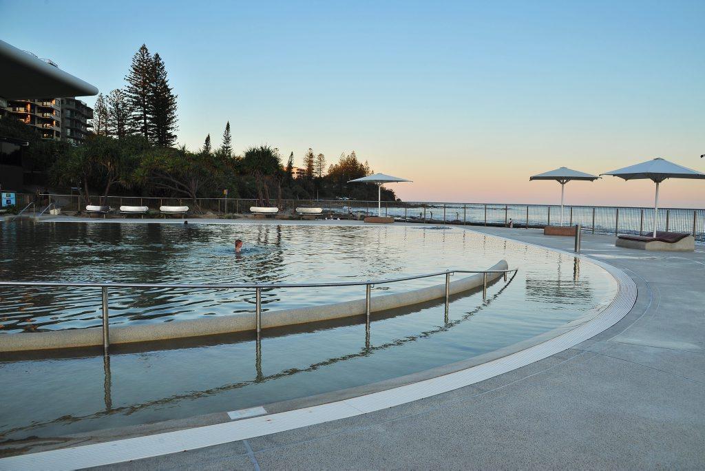 The Ocean Pool at Kings Beach, Caloundra.