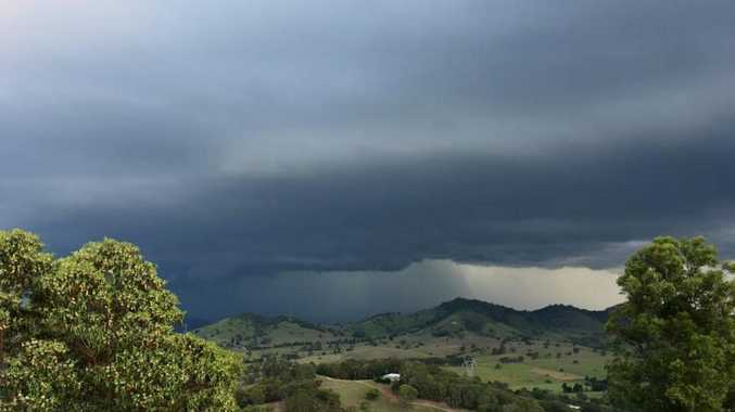 Calico Creek resident Liza Cameron took this photo of the storm as it approached the Gympie region on Monday night.
