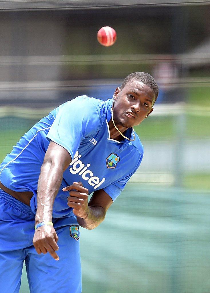 Captain Jason Holder at West Indies training. Photo: AAP Image