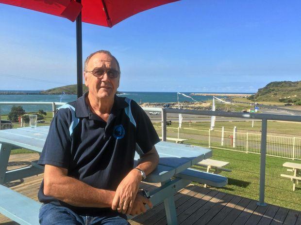 CONFIDENT: Fishing Club president, Bill Mabey.
