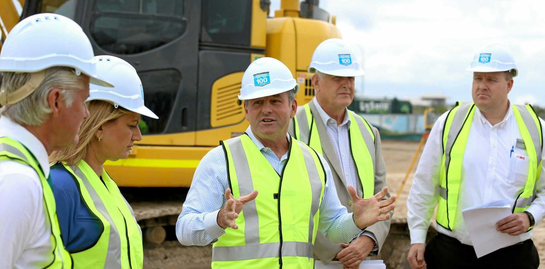 Don O'Rorke of Consolidated Properties, the company building Coles Casuarina, at the development launch last year.