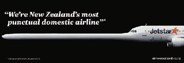 The Air New Zealand ad run in the New Zealand Herald newspaper.