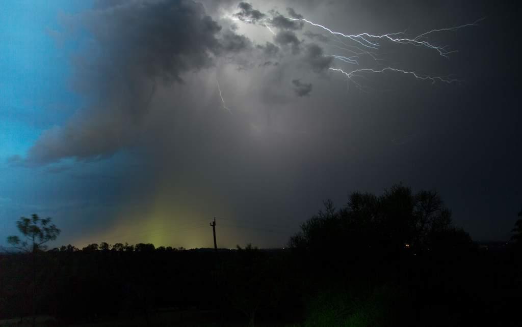 Lightning over Gympie