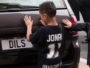 Jonah Lomu's sons in touching tribute at funeral