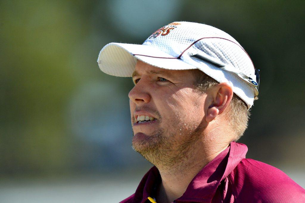 Queensland Bulls cricket match at Maroochydore. Captain James Hopes looking forward to a bright summer. Photo: Warren Lynam / Sunshine Coast Daily
