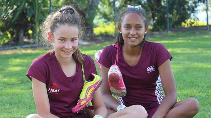 TRACK STARS: Paige Willett and Layne Ivey are ready to test their athletic skills against some of Australia's most promising athletes.
