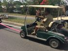 Three youth 'in the rough' after golf buggy escapade