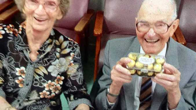 MILESTONE: Evelyn and Sid Courtney celebrate their 70th wedding anniversary with friends and family on the weekend.