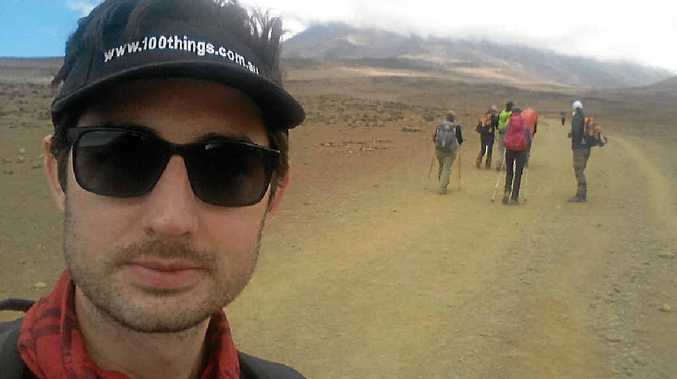 READY TO TREK: Rockhampton lawyer Josh Fox is ready to start the incredible climbing experience of Mount Kilimanjaro in Africa.