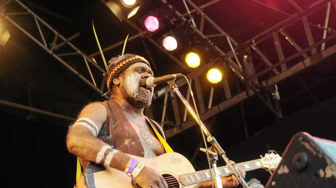 Frank Yamma performs at the Boomerang Festival in Byron Bay. Photo Doug Eaton / The Northern Star