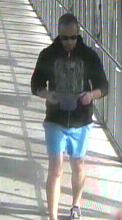The man was captured on CCTV at Caboolture Railway Station on June 3.