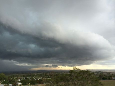 A storm approaching Rockhampton Photo: Contributed