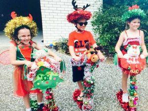 Honouring Santa with parade before Carols by Candlelight