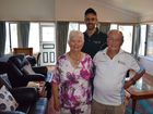 HOME, SWEET HOME: Lammermoor couple Rita and Tom Edmistone with Suncorp Insurance spokesperson Joshua Cooney. Tom and Rita's home suffered huge damage after Cyclone Marcia but Suncorp helped them to rebuild.