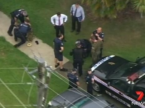 The drama during the Brisbane schools lockdown. Picture: Channel 7