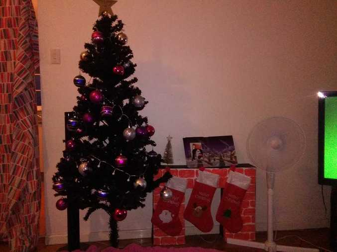 Sharahlee Lawton - This is our tree and I made the little fire place.