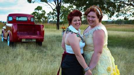 Kara Hopson and Kelly Anne Russell were married in New York on January 2, but then had another ceremony with family and friends in Calliope on June 8.