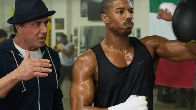 Slyvester Stallone and Michael B. Jordan in Creed