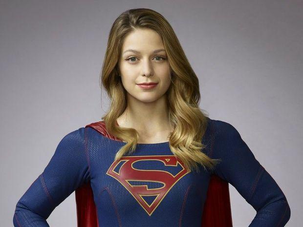 Melissa Benoist stars in the TV series Supergirl.