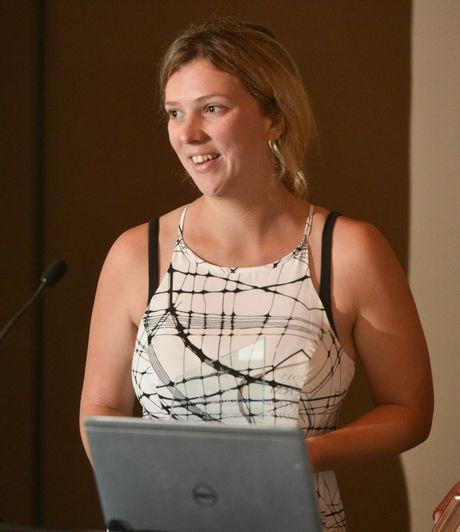 Non-Daily reporter of the year Emily Smith at the 2015 Australian Regional Media Editorial Awards.Photo Adam Hourigan / The Daily Examiner