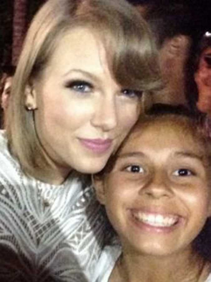 MAGIC MOMENT: Patience paid off for 13-year-old Lizzie Slater, who got to have her photo taken with Taylor Swift. Photo Contributed