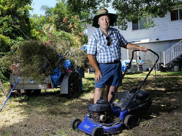 GROWING PROBLEM: Heart patient Sandy Barrie received a fine for an overgrown lawn.