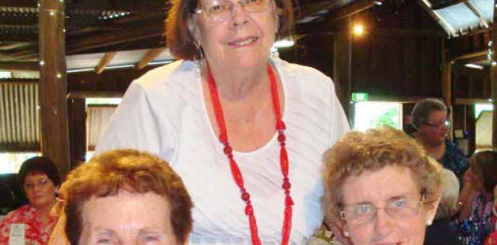 GOOD FRIENDS: Agnes Thomas, Beth Lockyer and Anita Napper.