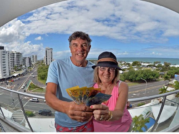 THE GOOD LIFE: Colin and Madeline Anderson make money being on holidays, renting out their Adelaide home for $700 a week and paying $470 in Maroochydore.