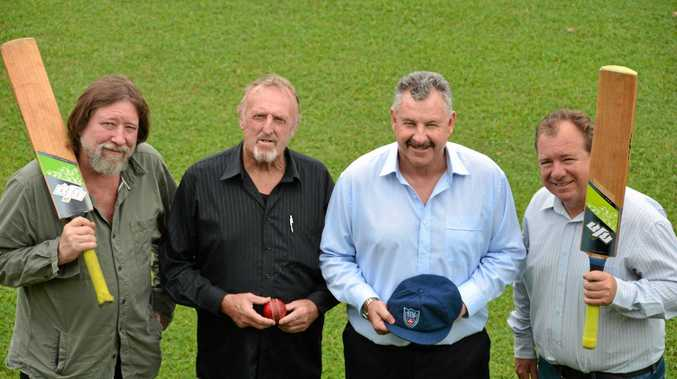 HOWZAT: Alf Stone, Keith Wyatt, Steve Small and Steve Twohill prepare for the NSW Baggy Blues Country Challenge.