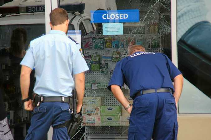 Police are investigating the robbery of a pharmacy at Northside Shopping Centre on Park Beach Road.