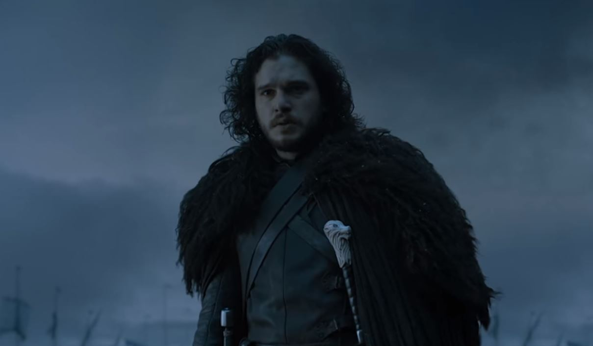 Kit Harington as Jon Snow in a scene from the TV series Game of Thrones.