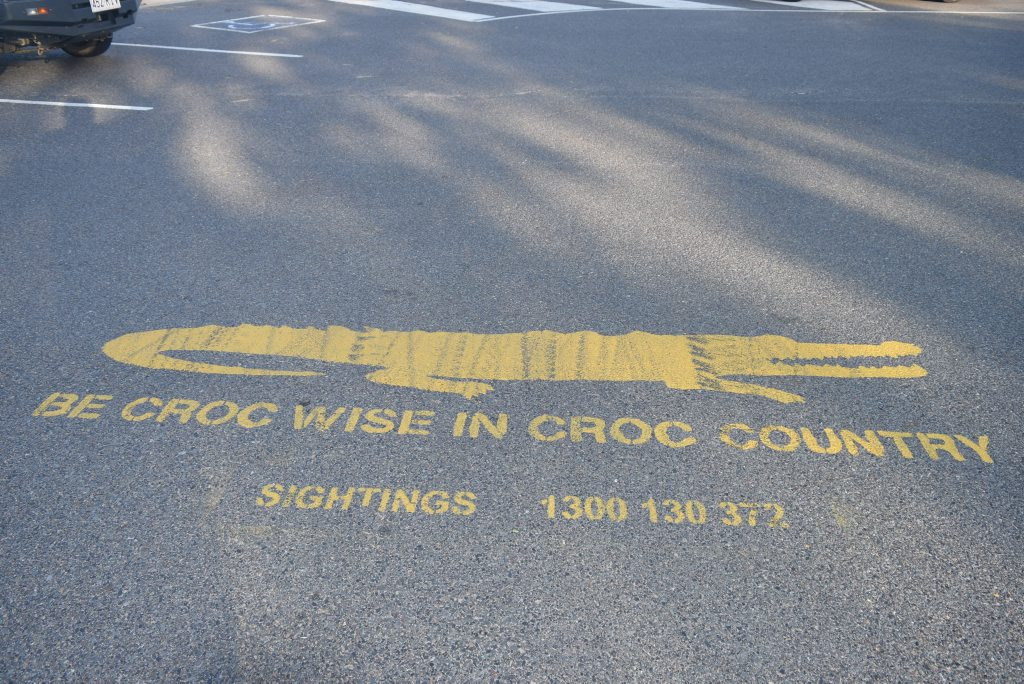 Croc warning on the Boyne River. Photo Declan Cooley / The Observer