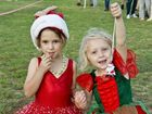 Savannah Horner and Zara Quinlan at the 4GR Mayoral Carols by . . Saturday, Dec 05, 2015 . Photo Nev Madsen / The Chronicle