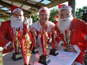 Sea of Santas run in the sun for Bundy fun