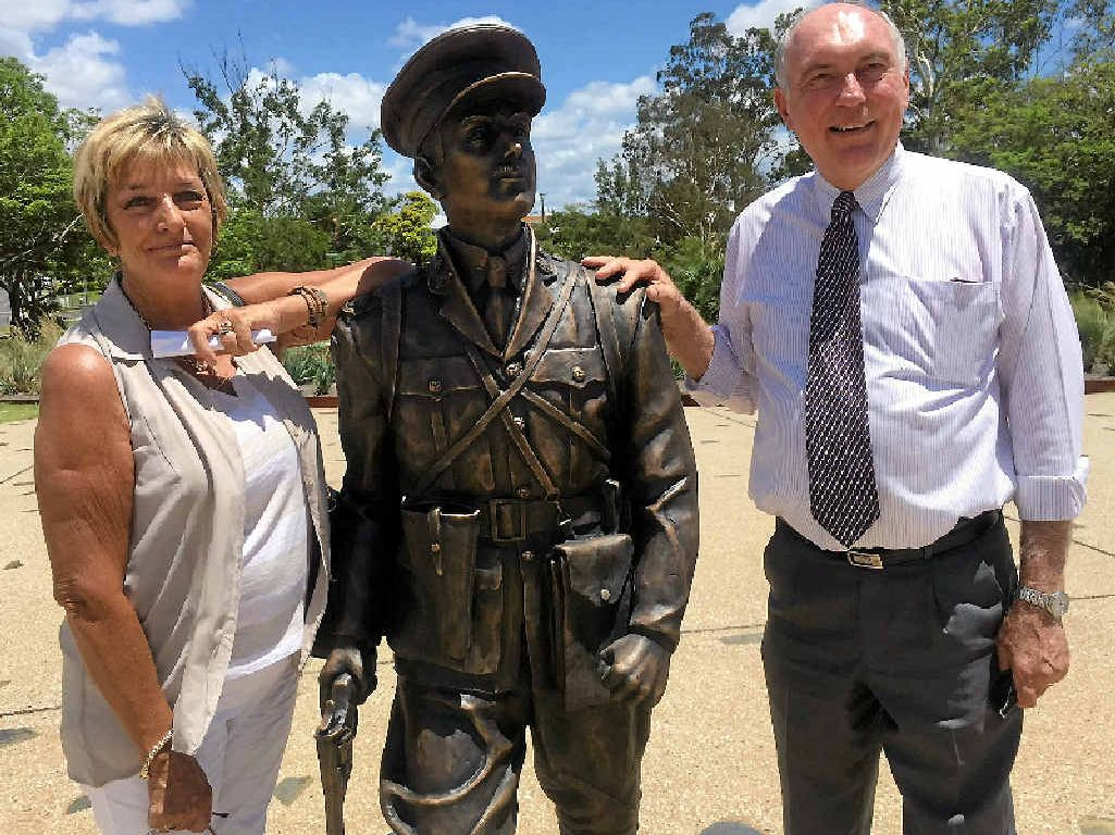 PROUD MOMENT: Duncan Chapman Memorial Appeal Committee president Nancy Bates was thrilled to receive $900,000 in funding towards the second stage of the Duncan Chapman Military History project. Deputy Prime Minister Warren Truss announced the funding yesterday.