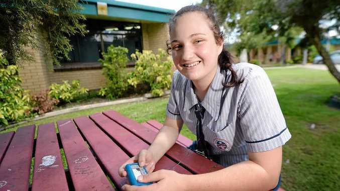 IN CONTROL: Cassidy Acutt has learned to manage her diabetes and lives life to the full.