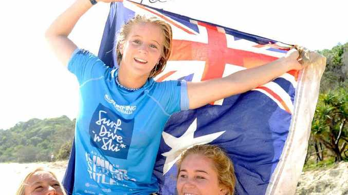WINNING SMILE: Sunshine Coast surfer Sophie McCulloch, 17, has claimed the under-18 Australian junior title at North Stradbroke Island.