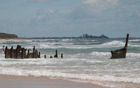 Sunshine Coast U11-U14 branch surf lifesaving championships at Dicky Beach: Wreck of the SS Dicky Photo: Brett Wortman / Sunshine Coast Daily