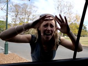Good Samaritans smash window to help toddler in car