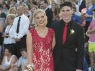 Annaleys Bennett and Corey Radke arrive at Toowoomba Christian College formal at Highfields Cultural Centre.