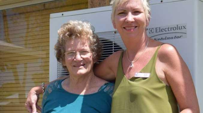 MOVING MOMENT: Denise Marshall of Coalstoun Lakes with Bundaberg Health Services Foundation manager Maria Burnet. Photo Erica Murree / Central & North Burnett Times