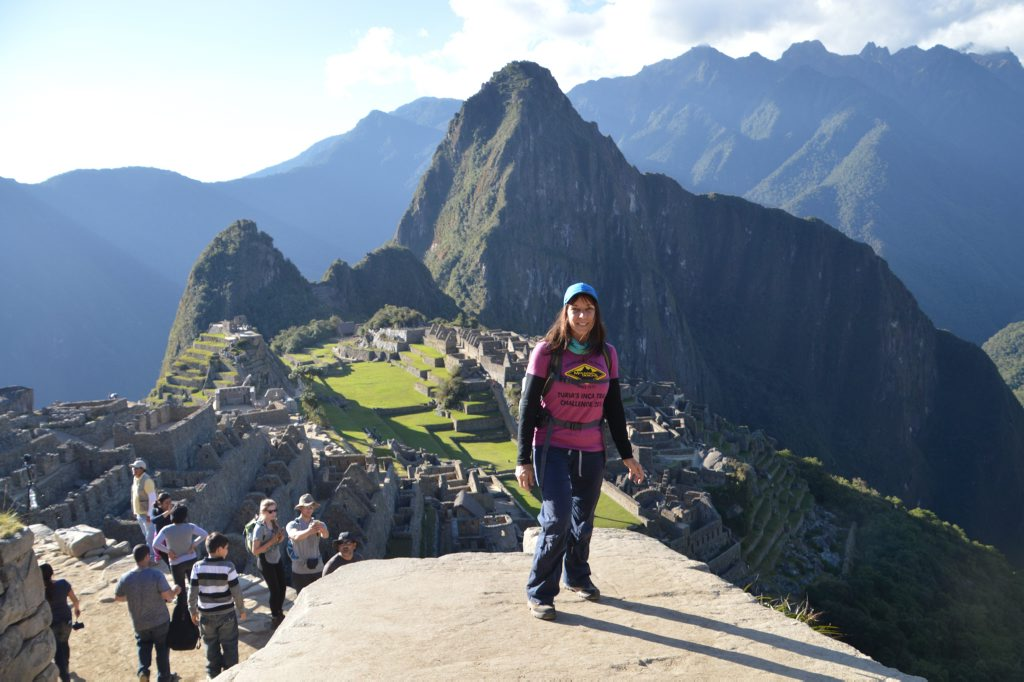 Belinda Hassan at Machu Picchu - a trek she did to raise money for Interplast anbassador Turia Pitt.