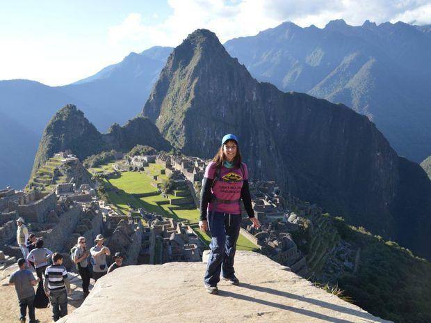 Belinda Hassan at Machu Picchu - a trek she did to raise money for Interplast anbassador Turia Pitt.