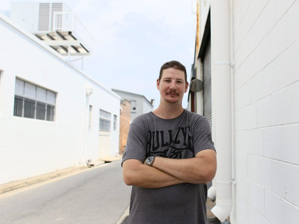 Troy Ahern is looking for employment after a hard battle to beat alcoholism Photo Trinette Stevens / Morning Bulletin