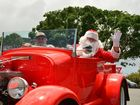 Santa arrives in a hot rod at Caloundra.