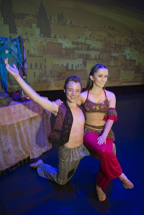 Austin Kelly and Georgia Manthey play the lead roles of Aladdin and Jasmine in Dance Central's production of Aladdin